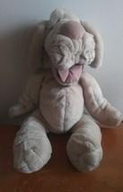 "Vtg Ganz Bros Puppet Plush Wrinkles 16"" Gray Dog Stuffed 1981 Toy Ganzbros - $17.30"