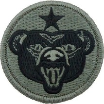 GENUINE US ARMY PATCH: U.S.A. ALASKA DEFENSE COMMAND - EMBROIDERED ON AC... - $19.78