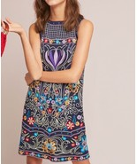 Anthropologie Kira Embroidered Tunic Dress by Maeve $295 Sz 0P - NWT - $135.99