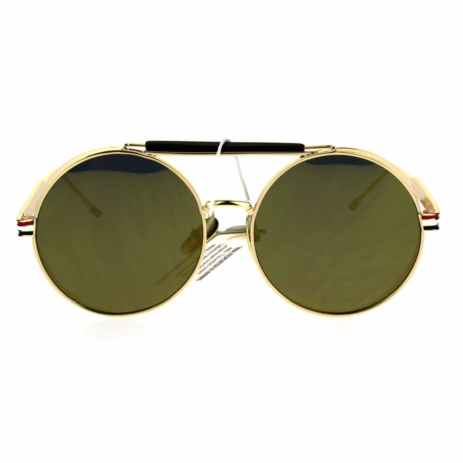 Vintage Retro Fashion Sunglasses Side Cover Round Circle Unisex Shades