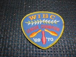 Old Vtg Embroidered Womens BOWLING PATCH WIBC League Champion 1969-1970 ... - $9.89