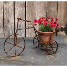 New Vintage Style Tricycle Planter w/Pot - $39.59