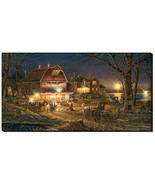 Harvest Moon Ball Lighted Wrapped Canvas by Terry Redlin - $199.00