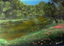 ACEO Landscape Floral Print -: rdoward fine art - $5.94