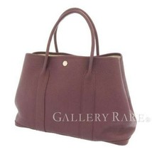HERMES Garden Party PM Negonda Cassis Tote Bag France 2012 #P Authentic - $2,307.65