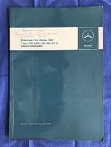 1968 Mercedes Benz Passenger Car Program Manual Intro to Service Old Vin... - $74.79
