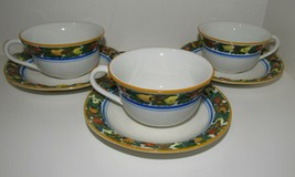 Real English Ironstone ADAMS MICRATEX Della Robia Cups and Saucers - $36.10