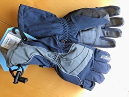 Gordini Junior Goose Gauntlet Gloves Black Navy Grey Size XL NWT Aqua Bloc - $20.92 CAD