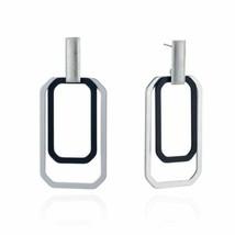 Hyperbole Silver Color Double Square Drop Earrings For Women Fashion Par... - $5.70