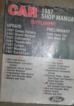 1987 Ford MUSTANG Thunderbird Escort Corona Victoria Servizio Manuale 87 - $44.53