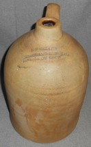 Antique 1 1/2 Gallon ADVERTISING STONEWARE JUG Marchand General Store CA... - $178.19