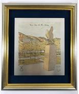 USAF Academy Ltd Damascene Frame Etching Silver 24K Gold Eagle Fledgling... - $197.99