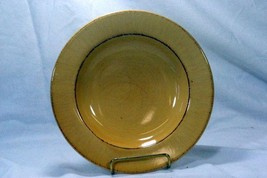 "Pier 1 Toscana Gold Rimmer Soup Bowl 9 1/2"" - $6.23"