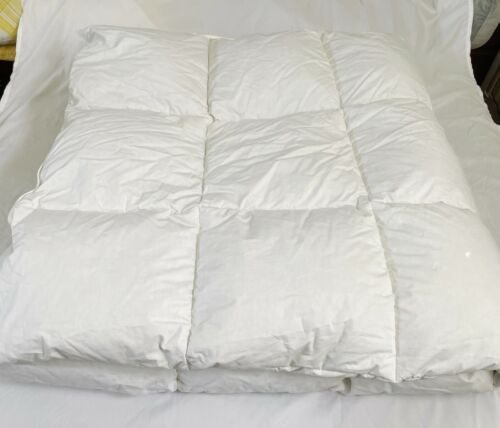 "Northern Nights White Cotton Down Comforter Full Queen 86"" x 86"""