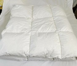 "Northern Nights White Cotton Down Comforter Full Queen 86"" x 86"" image 1"