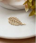Gold Leaf Hair Pin, Autumn Leaf Hair Clip, Satin Gold Leaves Hair Bobby Pin - $11.88