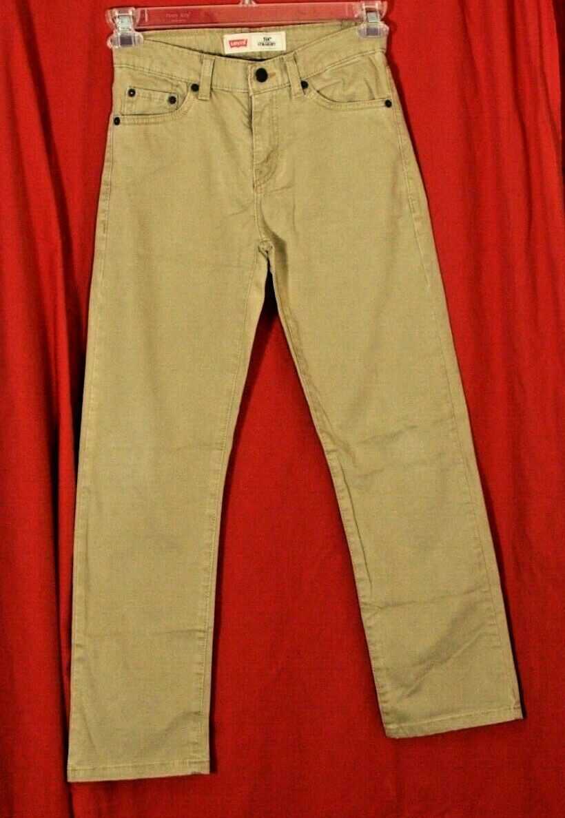 Primary image for Levi's 514 Straight Fit Khakis Pants Jeans W/Adjustable Waist Boys 12 26x26 MINT