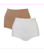 Nearly Nude 2 pack Contour Smoothing Brief in White/Nude, S/M  (584836) - $8.86