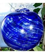 "Hanging Glass Ball 4"" Diameter ""Cobalt Blue Tree"" Witch Ball (1) GB10 - $15.84"