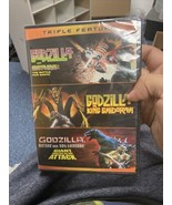 GODZILLA TRIPLE FEATURE VS MOTHRA KING GHIDORA GIANT MONSTERS DVD NEW SE... - $37.39