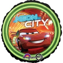 Disney Cars Neon City Foil Mylar Balloon 1 Per Package Birthday Party Supplies - $3.22