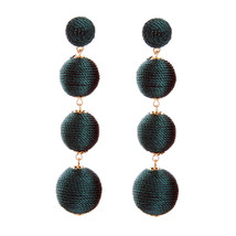 The Cats Pajama Envy Green Ball Drop Statement Earrings - $48.00