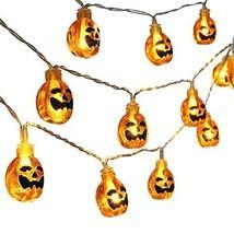 Qedertek Halloween String Lights,3D Pumpkin Halloween Lights,20 LED 9.08... - $17.68 CAD