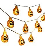 Qedertek Halloween String Lights,3D Pumpkin Halloween Lights,20 LED 9.08... - £13.28 GBP