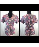 SB Scrubs Purple Floral Shirt, Women's Size Small, EUC - $14.15