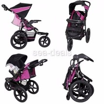 3 Wheel All Terrain Jogger Stroller Baby Infant Lightweight Reclining Cup Holder - $101.24