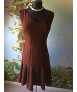 Space Style Concept Woman's Brown Sleeveless Made in Italy Dress SZ 46 - $29.69
