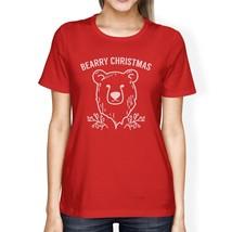 Bearry Christmas Bear Womens Red Shirt - $14.99+