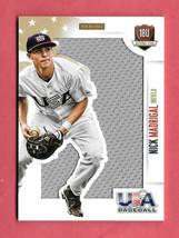 2014 Nick Madrigal USA Baseball Rookie Jumbo Jersey 44/49 - Chicago White Sox - $9.49