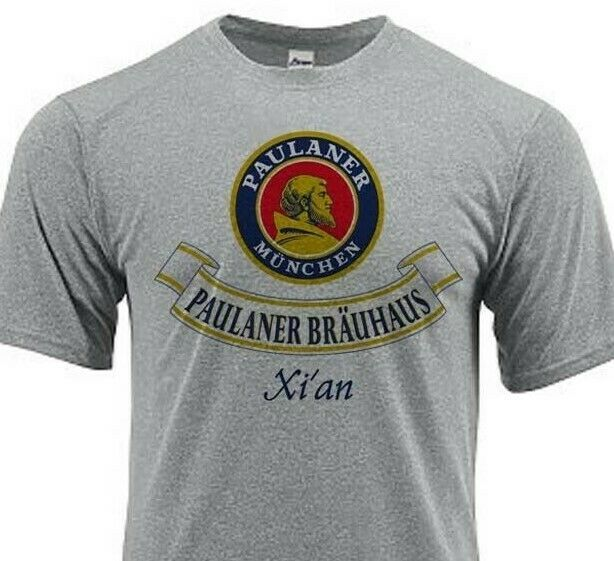Paulaner Dri Fit graphic beer T-shirt moisture wicking sun protection SPF 50 tee