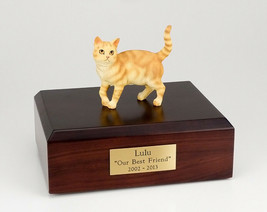 Tabby Red Cat Figurine Pet Cremation Urn Available 3 Different Colors & ... - $169.99+