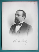 CHARLES PILLSBURY Flour Miller & Company Founder - 1895 Portrait Antique... - $21.42
