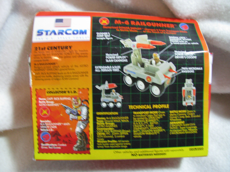 Star Com M-6 Rail Gunner. 1987. Unopened.Ages 5 and up. Coleco.Capt Rick Ruffing