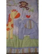 Crib Quilt Carters Child of Mine Animals Giraffe Elephant Monkey BABY Bl... - $12.86