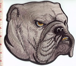 English bulldog BIG XL 7.8 X 8.5 inches applique iron-on dog patch S-1570 - $12.43 CAD