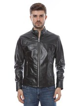Men's Genuine Lambskin Leather Motorcycle Jacket Slim fit Biker Jacket - FL120 - $69.29+