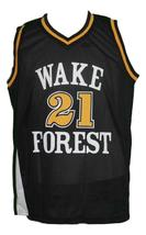 Tim Duncan #21 College Basketball Jersey Sewn Black Any Size image 1