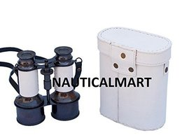 Nauitcal Commanders Oil-Rubbed Bronze/White Leather Binoculars with Leather case - $107.91