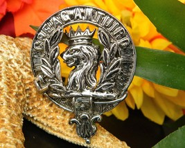 MacLaren Clan Kilt Pin Brooch Creag An Tuirc Scotland DB 70B Lion Head - $21.95