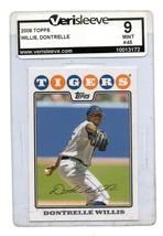 2008 Topps Baseball Card #45 Dontrelle Willis Graded 9 Mint - $3.49