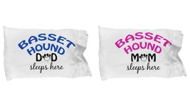 Basset Hound Mom and Dad Pillow Cases (Couple) - $19.55