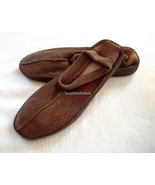 Avon Taupe Brown Indoor/Outdoor Crocheted Slipper Shoes L 9-10 New in Ba... - $9.47