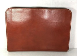 JC Higgins Sears, Roebuck & Co Vintage Brown Leather Briefcase Deep Buff... - $72.74
