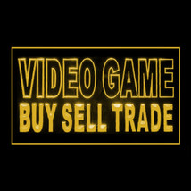 130055B Video Game Buy Sell Trade Exclusive Retailer Easy Imports LED Light Sign - $18.00