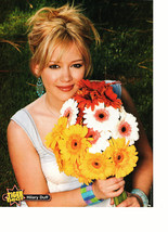 Hilary Duff teen magazine pinup clipping beautiful flowers