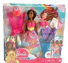 Barbie Dreamtopia Dress Up African American Mermaid Princess Fairy Doll ... - $26.72